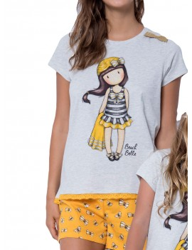 Pijama Santoro Gorjuss mujer mostaza amarillo