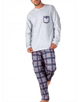 Pijama Kler hombre verano largo cuadros