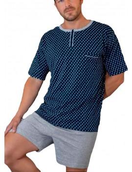Pijama Kler corto hombre clásico