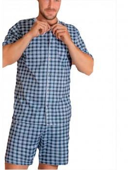 Pijama Kler hombre clasico abierto cuadros