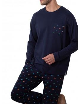 Pijama algodón bolsillos hombre Admas