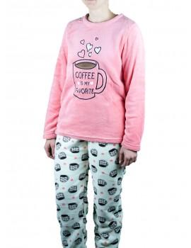 Pijama polar mujer Lins coralina