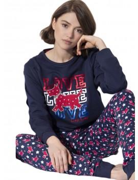 Pijama Mujer Admas Algodón Perrito