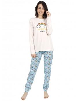 Pijama Mujer Admas Unicornio Arcoiris