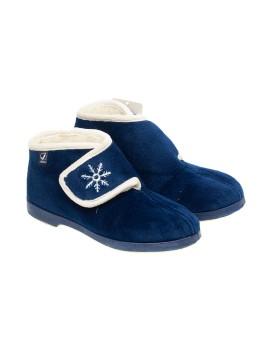 Zapatilla bota Javer para mujer con velcro