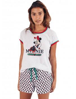 Pijama Disney Mujer Verano Minnie Algodón