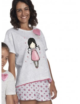 Pijama Gorjuss Mujer Santoro  Algodón Verano Corazones