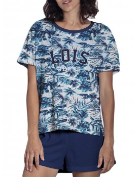 Pijama Lois para mujer de verano en estampado tropical