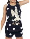 Pijama de tirantes de Minnie en algodón de lunares.