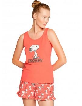 Pijama Mujer Gisela Snoopy Corto Verano Algodón