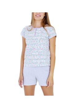 """Pijama Mujer Marie Claire Verano """"Hola"""""""