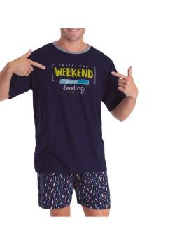Pijama Kler Hombre Verano Weekend Algodón