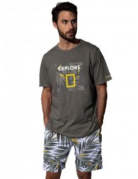 Pijama Hombre National Geographic Jungla Verano Algodón.