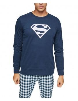 Pijama Gisela Hombre Superman Invierno 100% Algodón