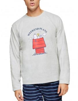 Pijama Giselqa Hombre Polar Snoopy