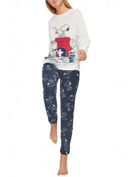 Pijama Snoopy Gisela Polar Invierno Mujer