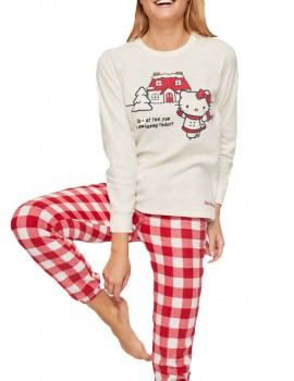Pijama Hello Kitty Gisela Mujer Polar Invierno