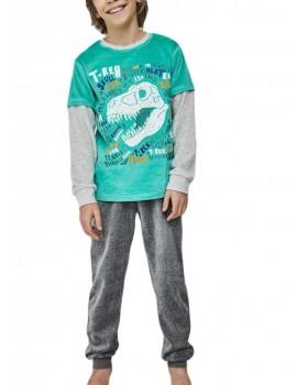 Pijama niño T-Rex Tobogán tondosado.