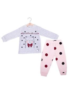 Pijama Baby-Bol Niña Tondosado Niña Gatito
