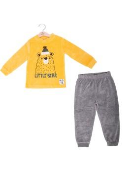 Pijama Niño Baby-Bol Oso Mostaza Tondosado