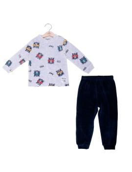 Pijama Niño Baby-Bol Tondosado Invierno Tigre