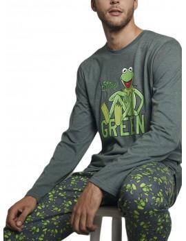 Pijama Disney Hombre Rana Gustavo Invierno Bolsillos