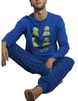 Pijama Rana Gustavo Hombre Disney Bolsillos Caras