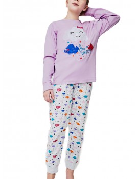 Pijama algodón niña Yatsi nube.
