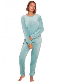 Pijama Mujer Muydemi Tondosado Invierno Terciopelo