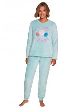 Pijama Muydemi Mujer Piruletas Invierno Coralina