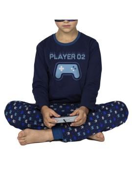 Pijama Admas Invierno Niño Videojuegos Puños