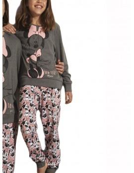 Pijama Disney Niña Minnie Rosa Invierno